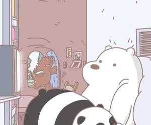 wallpaper, cartoon, and panda image