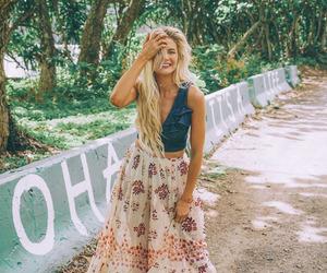boho, fashion, and blonde image