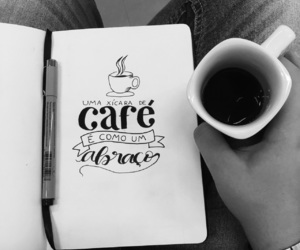 calligraphy, coffee, and handlettering image
