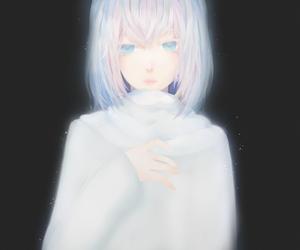 art, white, and girl anime image