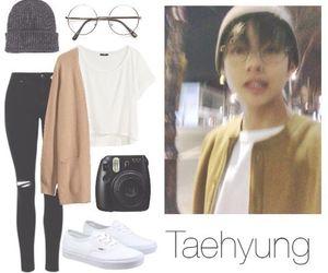 bts, fashion, and taehyung image