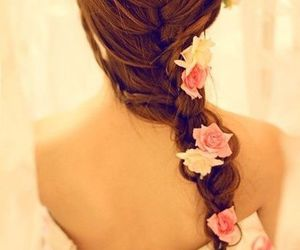 rose, vintage, and trenza image