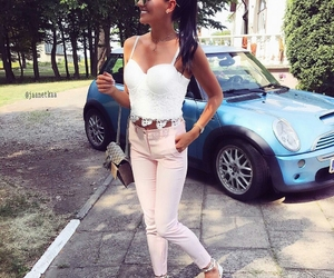 outfit, pastel, and streetstyle image