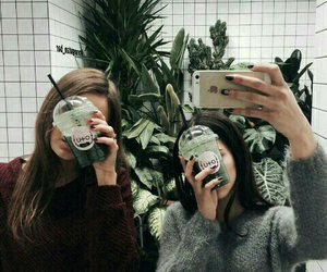 friendship, plants, and grunge image