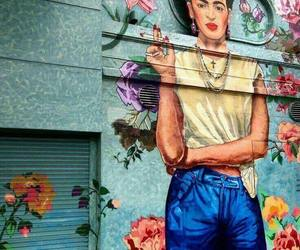 art, frida kahlo, and street art image