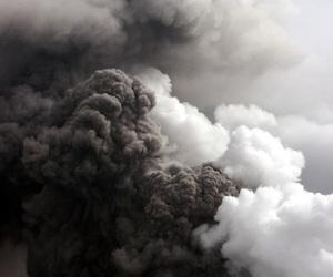 pink, smoke, and clouds image