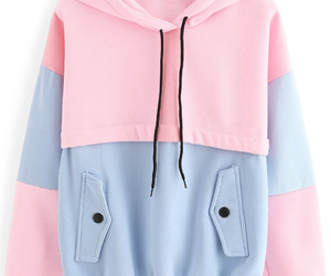 blue, pink, and sweater image