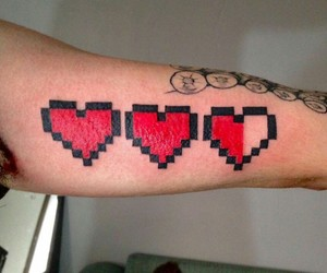 cool, gamer, and hearts image