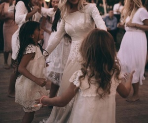 bride, daughter, and kids image