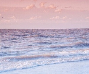 sea, beach, and pink image