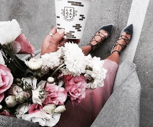 flowers, fashion, and shoes image