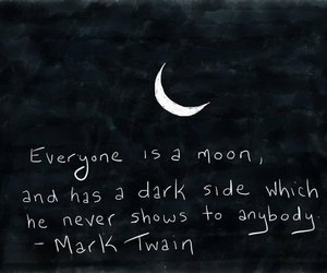 moon, quote, and mark twain image