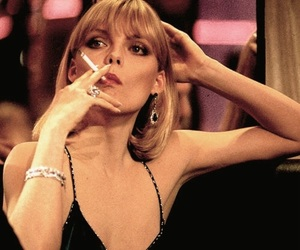 scarface, michelle pfeiffer, and cigarette image