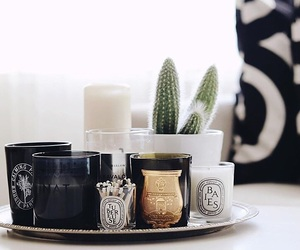 black, calm, and candles image