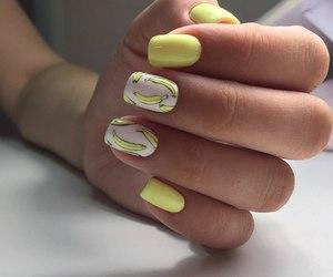 banana, manicure, and nails image