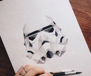 art, star wars, and darth vader image