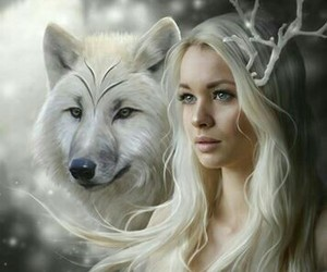 light and wolf image