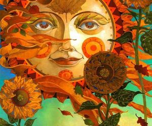 hippies and sun image