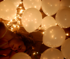 balloons, lights, and me image