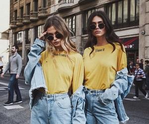 girl, fashion, and yellow image