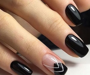 nails, black, and art image