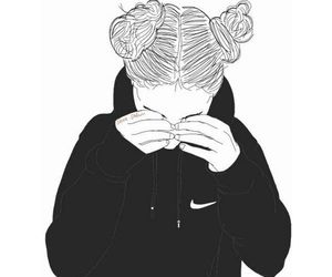 nike, drawing, and black image