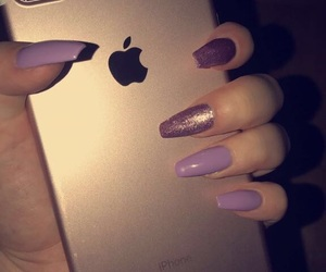 apple, iphone, and glitter image
