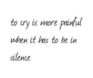 silence, crying, and grunge image