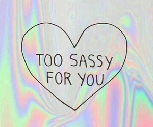 sassy, heart, and holographic image