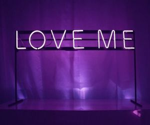 love, neon, and purple image