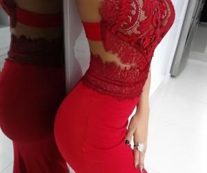 dress, elegance, and reddress image