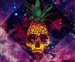 galaxy, pineapple, and wallpaper image