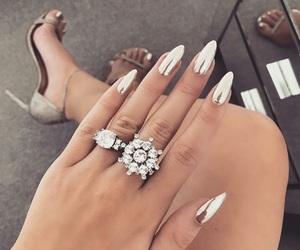 diamond, nails, and grey image