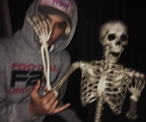 boy, grunge, and skeleton image