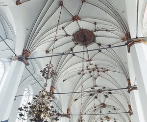 ceiling, copenhagen, and gold image