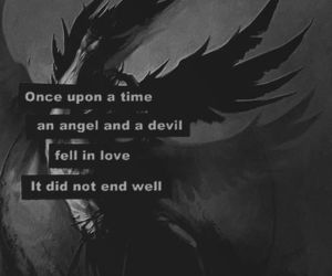 quotes, angel, and dark image