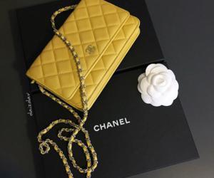 chanel, handbag, and yellow image