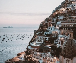 travel, city, and sea image