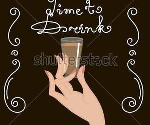 blackboard, drink, and pizarra image
