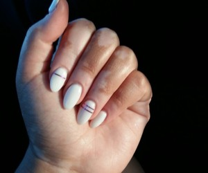 nails, simple, and white image