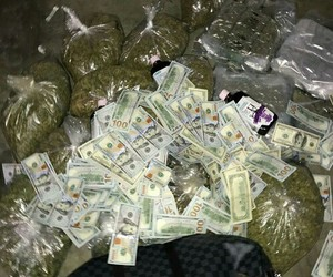 money, weed, and rich image