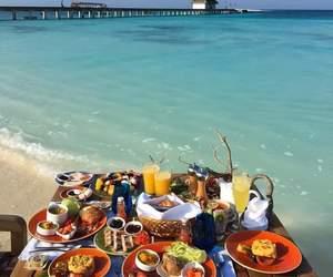 beach, breakfast, and food image