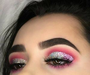 eyebrown, easy makeup, and pink eyeshadow image