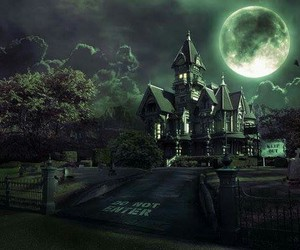 castle, moon, and Darkness image