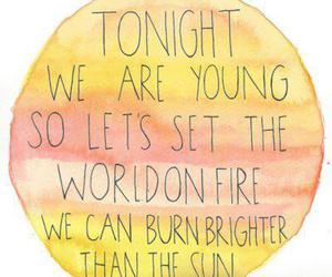 young, we are young, and sun image