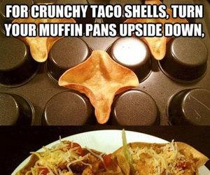 tacos, diy, and life hacks image