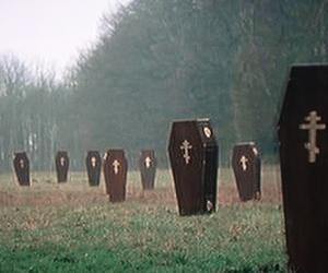 coffin, grunge, and dark image