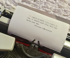 french, typewriter, and quote image