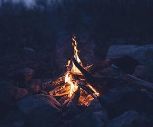 calm, camp, and fire image