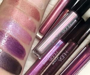 Lipsticks, huda beauty, and makeup image